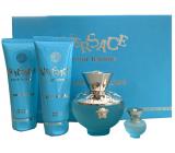 Versace Dylan Turquoise eau de toilette for women 100 ml + shower gel 100 ml + body gel 100 ml + eau de toilette 5 ml, gift set