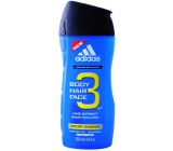 Adidas Sport Energy 3in1 250 ml men's shower gel for body, hair and face