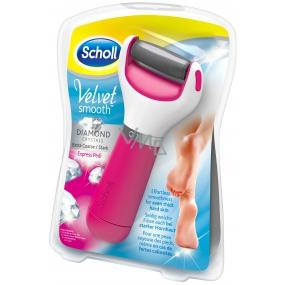 Scholl Velvet Smooth Express Pedi with Diamond Crystals Pink elektrický pilník na chodidla 1 kus