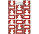Arch Christmas tree red Christmas gift stickers 20 labels 1 arch