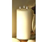 Lima Rustik svíčka bílá válec 3 knoty doba hoření cca 140 hodin 150 x 300 mm