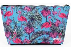 Albi Original Cestovní kosmetická taška Plameňáci 33 x 19 x 8 cm