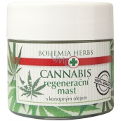 Bohemia Gifts & Cosmetics Cannabis Hemp oil regenerating ointment for dry and chapped skin 120 ml