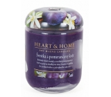 Heart & Home Plum and orange flower Soy scented candle burns up to 70 hours 310 g