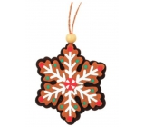 Gingerbread, colorful, hanging 9cm snowflake 5831 9975