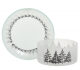 Yankee Candle Winter Trees - small trees shade small + small plate for a small candle Classic 7 x 9 cm (shade) 12 x 12 cm