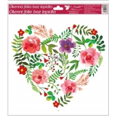 Room Decor Window foil without glue with glitter hearts No.4 30 x 30 cm