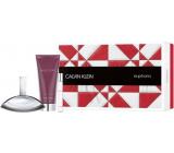 Calvin Klein Euphoria perfumed water for women 100 ml + perfumed water 10 ml + body lotion 200 ml, gift set