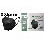 HO-Comfort Respirator oral protective 5-layer FFP2 face mask Black 25 pieces