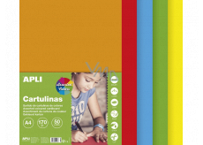 Apli Colored papers A4 mix of bright colors 170 g 50 sheets
