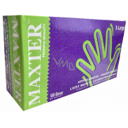 Maxter Hygienic disposable latex hypoallergenic powdered gloves, size XL, box 100 pieces