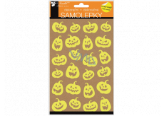 Halloween stickers glowing in the dark of a laughing pumpkin 14 x 25 cm