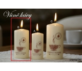 Lima Coffee - Coffee scented candle cream cylinder 50 x 100 mm 1 piece
