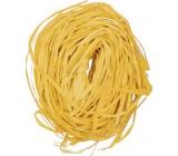 Raffia yellow colored bast for decoration 30 g