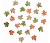 Wooden leaves 2 cm 24 pieces