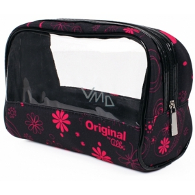 Albi Original Cosmetics bag with window Pink flowers 19 x 13 x 9 cm
