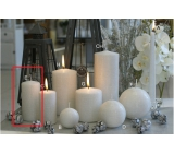 Lima Alfa Frost effect candle white cylinder 50 x 100 mm 1 piece