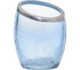 Yankee Candle Pearlescent Crackle modrý svícen na votivní svíčku 8 x 8 x 10 cm