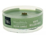 WoodWick White Willow Moss - Willow and moss scented candle with wooden wick petite 31 g