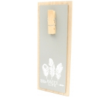 Nekupto Home Decor Wooden board with peg gray 30 x 12 cm