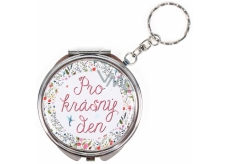 Albi Mirror - key ring with text For a beautiful day! 6,5 cm