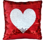 Albi Pillow with sequins Heart 37 x 37 x 10 cm