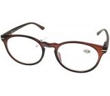 Berkeley Reading glasses +1.0 plastic brown, round glass 1 piece MC2171