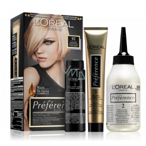 Loreal Paris Préférence hair color 92 Warsaw Very light blond rainbow