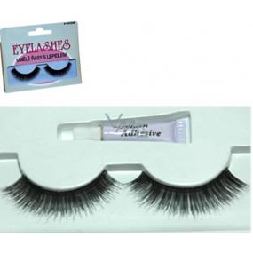 Face System False eyelashes No.118 1 pair + glue 1 g