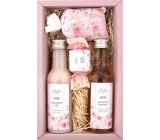 Bohemia Gifts Rosarium with rosehip and rose flower extracts shower gel 200 ml + hair shampoo 200 ml + bath salt 150 g + toilet soap 30 g, cosmetic set