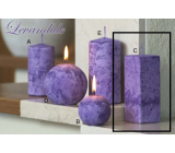 Lima Marble Lavender scented candle purple prism 45 x 120 mm 1 piece