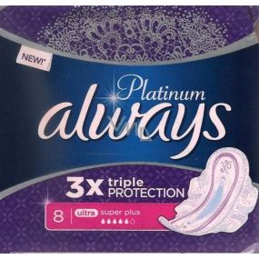Always Platinum 3 x Triple Protection Ultra Super Plus Hygiene Inserts with 8 Wings