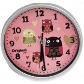 Albi Original Nástěnné hodiny Sovy, 25,5 cm × 25 cm