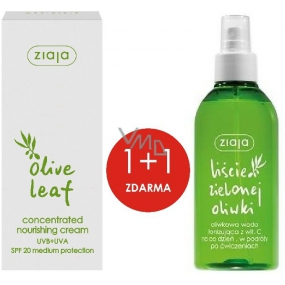 Ziaja Olivové listy SPF20 vyživující koncentrovaný krém 50 ml + Olivové listy s vitamínem C tonizující voda 200 ml, duopack