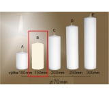 Lima Gastro smooth candle ivory cylinder 70 x 150 mm 1 piece