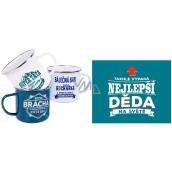 Albi Metal mug with the word Grandpa 250 ml