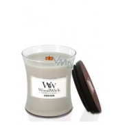WoodWick Warm Wool - Warm wool scented candle with wooden wick and lid glass small 85 g