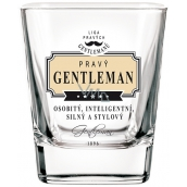 Nekupto League of Real Gentlemen Whiskey glass Real Gentleman - distinctive, intelligent, strong and stylish 200 ml