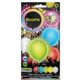 Shining LED balloons color mix 4 pieces