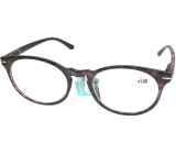 Berkeley Reading glasses +1.5 plastic purple-brown, round lenses 1 piece MC2171