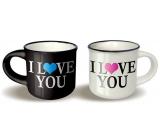 Nekupto Pair of mini cups I love you 2 x 100 ml