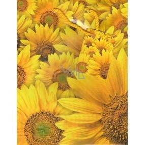 Nekupto Gift paper bag 23 x 18 x 10 cm Sunflower 1 piece 754 01 BM