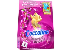 Coccolino Fiori di Tiaré and Frutti Rossi fragrant laundry bags 3 pieces