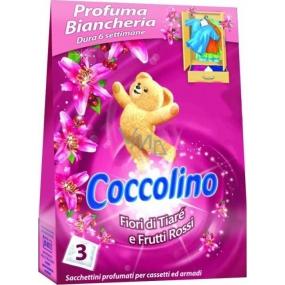 Coccolino Fiori di Tiaré e Frutti Rossi voňavé sáčky do prádla 3 kusy