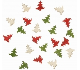 Wooden Christmas Tree 2 cm 24 pieces