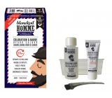 Blondépil Color for beard and hair without ammonia no.40 natural dark brown - on dark brown beard