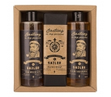 Bohemia Gifts & Cosmetics Sailor men's shower gel 250 ml + hair shampoo 250 ml + toilet soap 145 g, cosmetic set