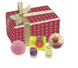 Bomb Cosmetics Christmas star balistik 2 x 160 g + soap 1 pc x 100 g + butter ball 1 pc + butter block 1 pc, cosmetic set