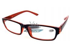 Berkeley Optical Frames +2,0 Plastic Black Orange 1 piece MC2062