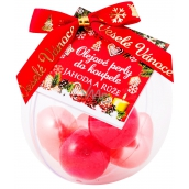 NeoCos Strawberry and Rose Bath Oil Pearls Red 5 pieces, gift box